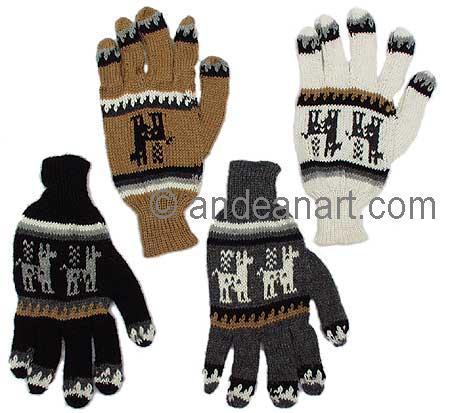 Alpaca / Llama Motif Alpaca Gloves
